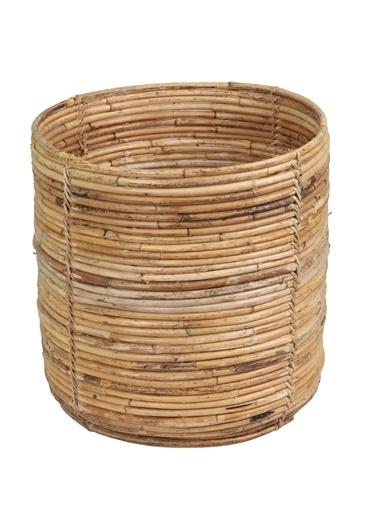 Kanca Ev Bambu Derin Sepet Renkli